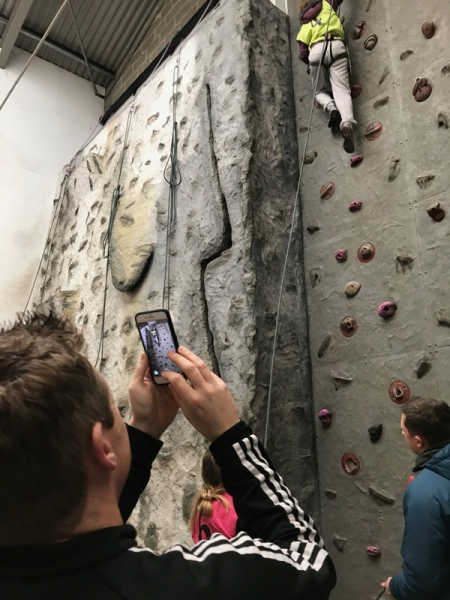 Video evidence - GCSE climbing in the indoor wall, Sussex