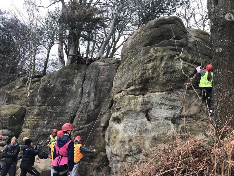 GCSE PE Climbing - Stone Farm Rocks, Sussex