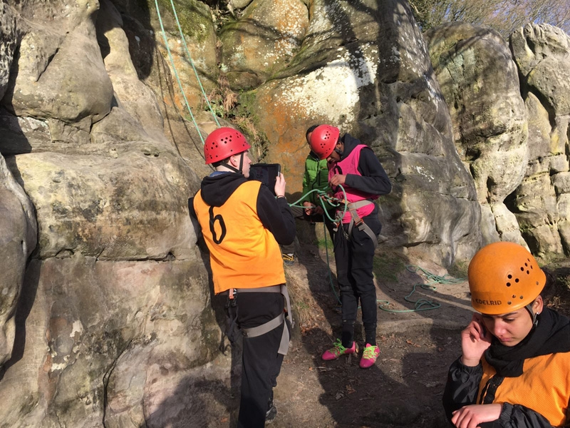 GCSE PE Climbing - Stone Farm Rocks, Sussex