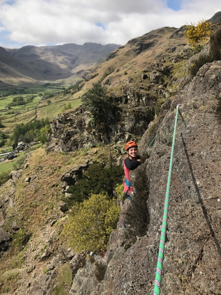 Multi-pitch climbing, Langdale, Lake District