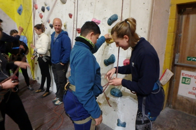 Assisting a climbing session at The Foundry, Sheffield