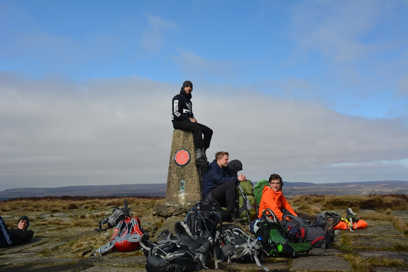 DofE on Kinder Scout, Peak District