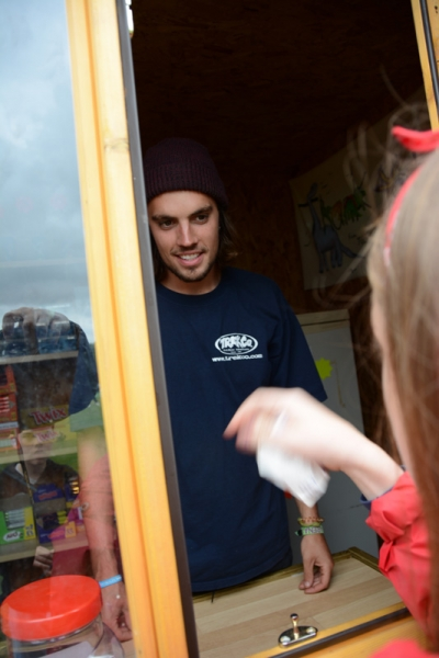 Sonnie in the tuck shop