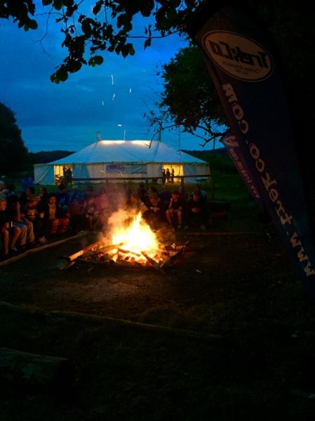 Campfire at Blackland farm