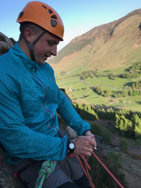 Ross climbing in the Lakes
