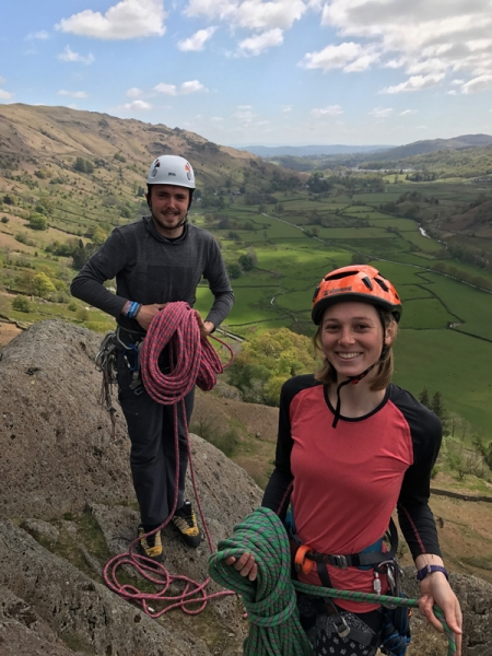After a multi pitch climb - trainees