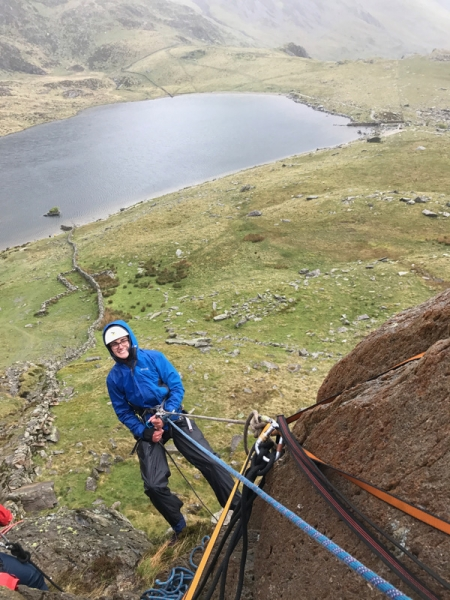 Trainees abseiling in Cwm Idwal
