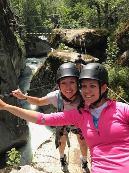 Via Ferrata in the Alps - teacher trip