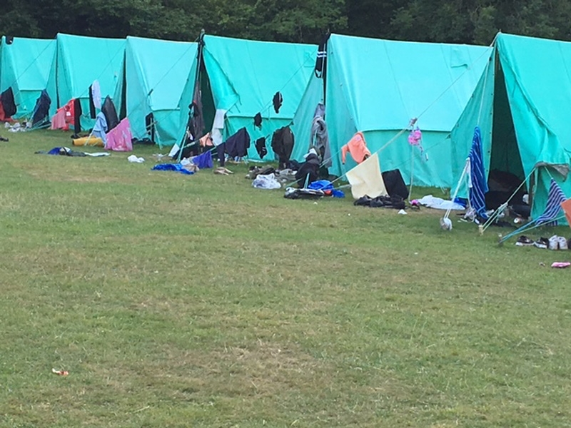 Tidy campsite on a residential camp!