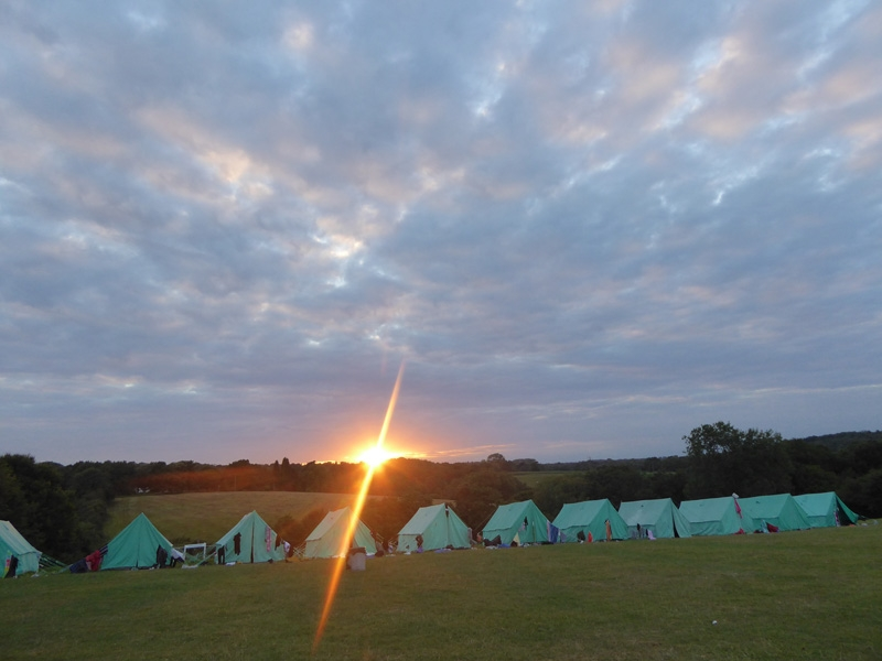 Sunset at Blackland Farm in Sussex