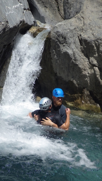 Canyoning - Tully and Tom's love-in