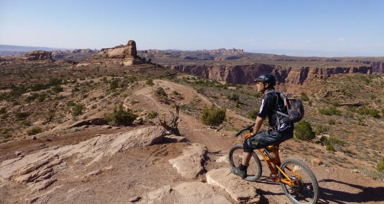 Pete on the Porcupine Rim Trail, Moab