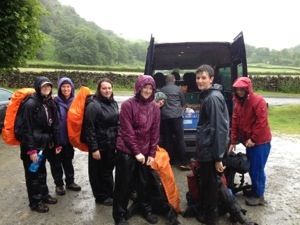 a DofE Gold group with TrekCo