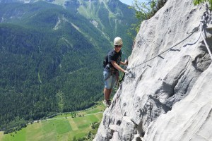 Via Ferrata in the French Alps