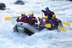 Whitewater Rafting in the Alps
