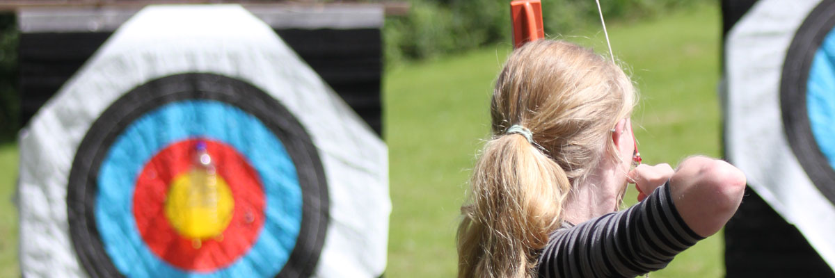 Archery at Blackland farm on camp