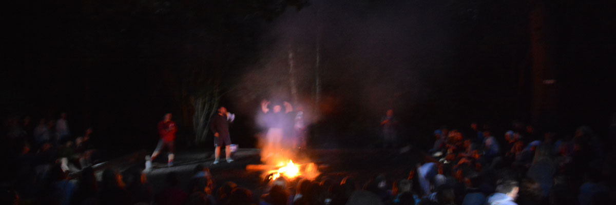Campfire - evening activities at camp