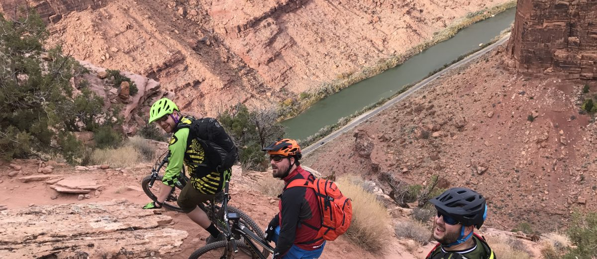 Mountain Biking above the Colorado River on the Porcupine Rim Trail