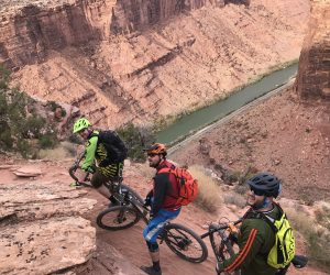 Mountain Biking above the Colorado River on the Porcupine Rim Trail
